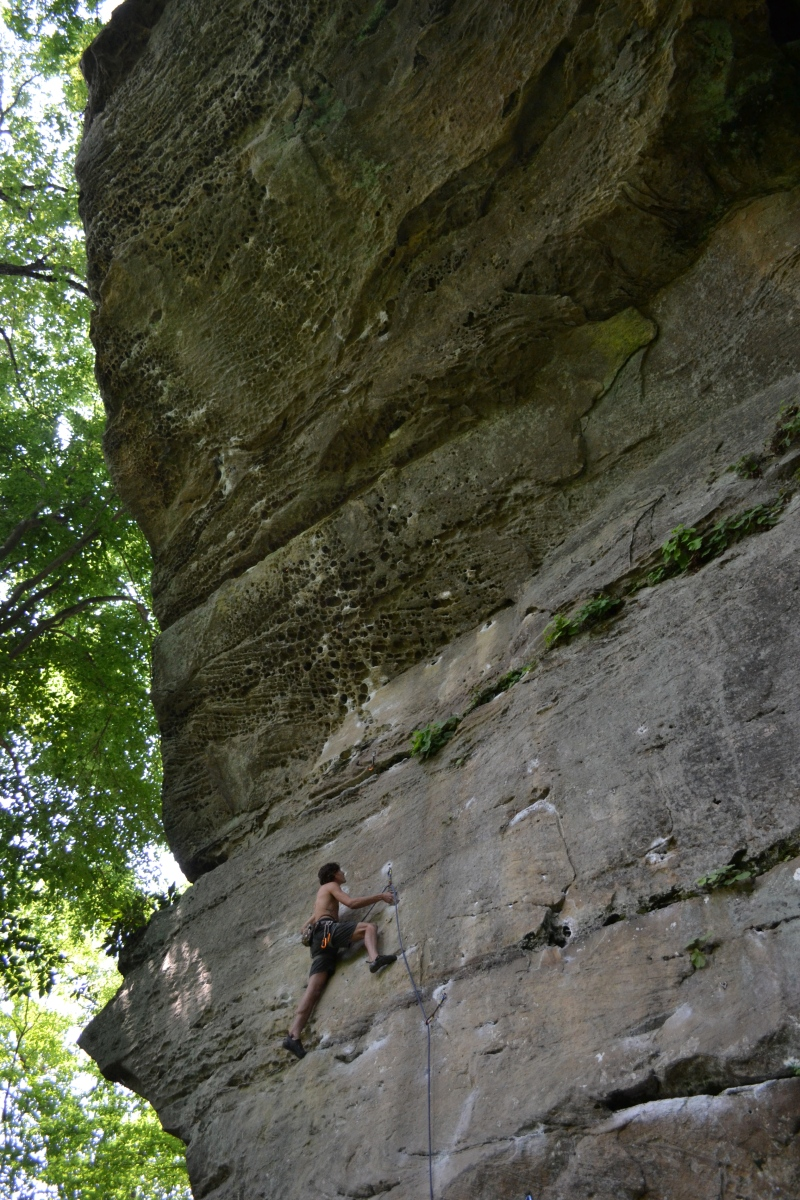 Climbing in the Red River Gorge Kentucky